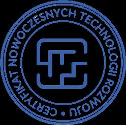 Pieczątka Certyfikat NTR niebieski transparentna